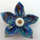 Small Vintage Fabric Flower Brooch