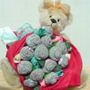 Cute As A Cupcake XXL Sock Rose Bouquet