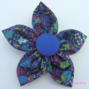 Extra Large Vintage Fabric Flower Hairclip