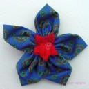 Large Vintage Fabric Flower Hairclip