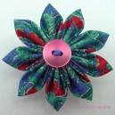 Mini Vintage Fabric Flower Clip