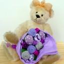 Positively Purple Medium Sock Rose Bouquet