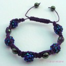 Purple Shamballa Style Bracelet