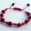 Pink Knotted Swarovski Crystal Bracelet