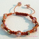 Peach Crystal Knotted Bracelet