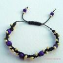 Knotted Glass Bead Bracelet