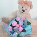 Elephant Hearts Medium Sock Rose Bouquet