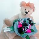 Panda Small Sock Rose Bouquet