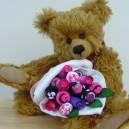 Large Baby Girl Modern Sock Rose Bouquet
