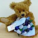 Large Baby Boy Blue Sock Rose Bouquet