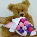 Large Baby Girl Pastel Sock Rose Bouquet