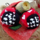 Hearts and Stripes Sock Rose Buds