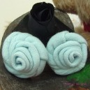Baby Blue Sock Rose Buds