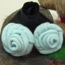Baby Blue Sock Rose Buds