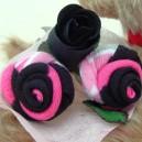 Union Jack Heart Sock Rose Buds