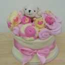 Mini Pink and Lemon Baby Cake