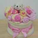 Mini Pink and Lemon Baby Cake