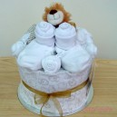 Mini Beige and White Lion Baby Cake