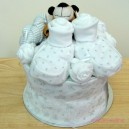 Mini Silver Grey and White Tiger Baby Cake