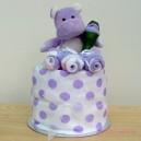 Lilac Hippo Nappy Muffin