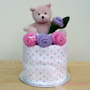 Pink Teddy Nappy Muffin