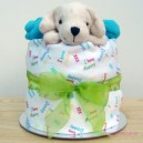 Turquoise Puppy Nappy Muffin