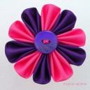 Medium Pink and Purple Flower Brooch